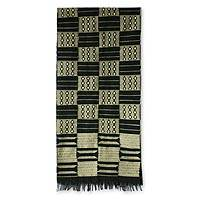Cotton kente cloth scarf, 'Healing'