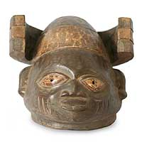Yoruba wood mask, 'He Brings Good' - Yoruba wood mask