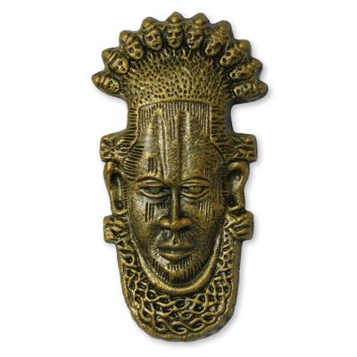Yoruba ceramic mask, 'Yoruba Chiefs' - Ceramic Wall Mask