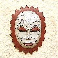 Nigerian wood mask, 'Moon Goddess' - Nigerian Wood Mask
