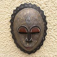 Nigerian wood mask, 'Foreigner' - Nigerian wood mask