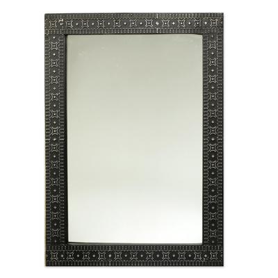 Contemporary Wood and Aluminum Mirror