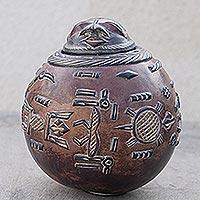 Calabash box, 'Dogon Gift' - Calabash box