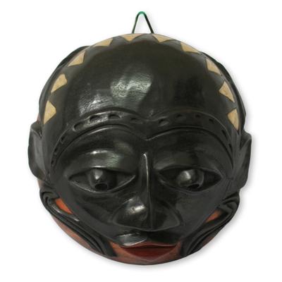 African calabash mask, 'Chieftain' - African calabash mask