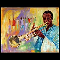 'Jazz' - Expressionist Portrait Painting
