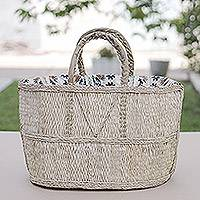 Natural fiber handbag, 'Market Basket' - Natural fiber handbag