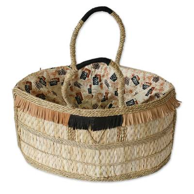 Handwoven Natural Fiber Handbag