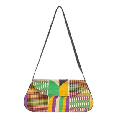 4a423daec9f6 Cotton kente shoulder bag