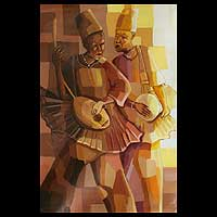 'Musicians' - African Acrylic Painting
