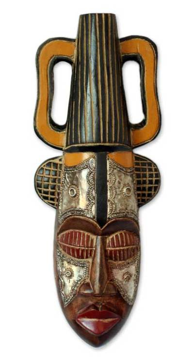 Nigerian wood mask, 'King's Companion' - Nigerian Wood Mask