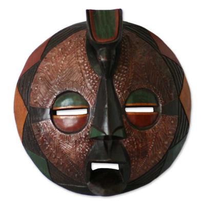 Zaire wood mask, 'Harvest Feast' - Zaire wood mask