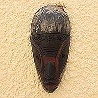 Ghanaian wood mask, 'From Olden Days' - African wood mask