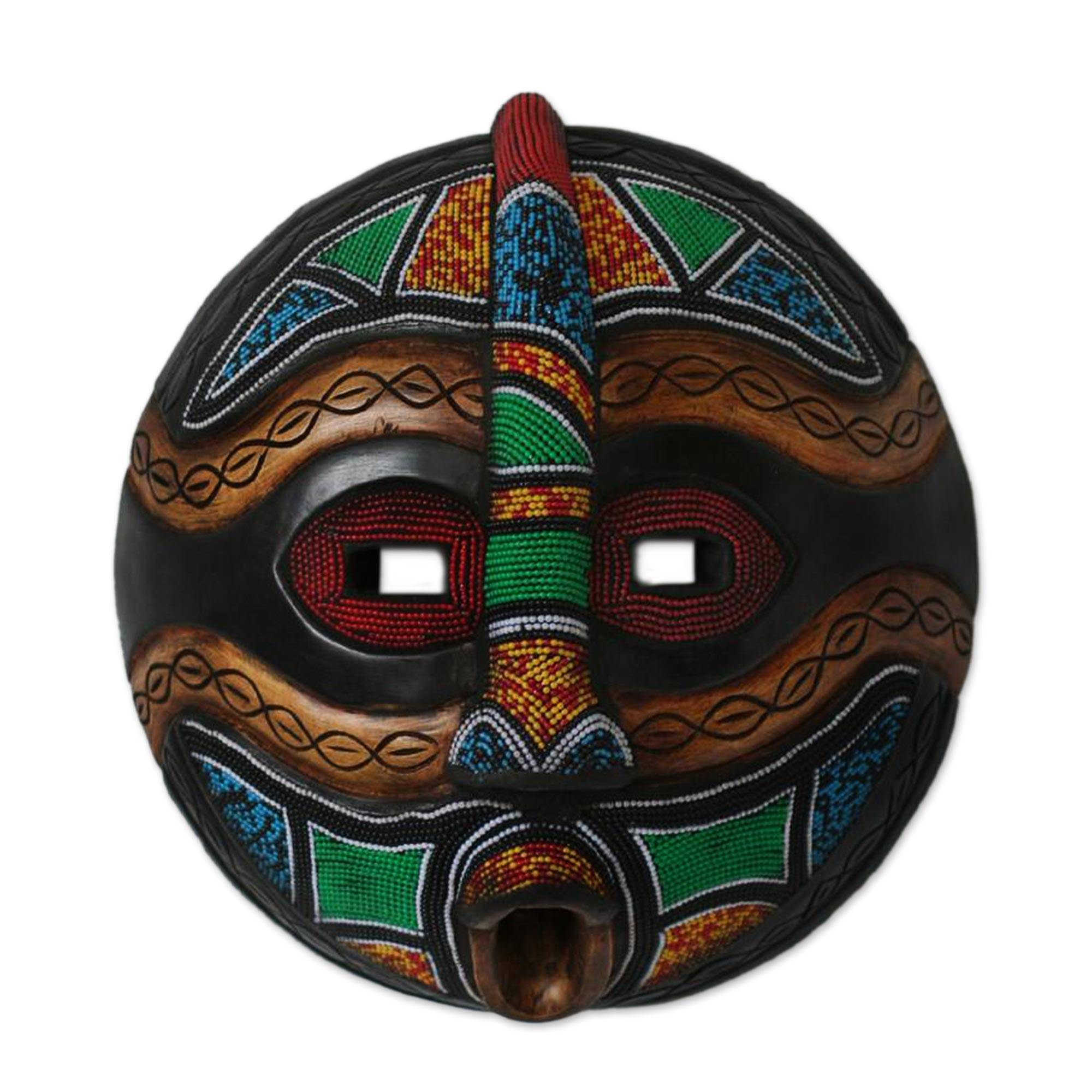 African Wood Mask - King's Mask