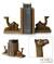 Wood bookends, 'Sahara Camel' (pair) - Handmade Wood Bookends (Pair) (image 2) thumbail