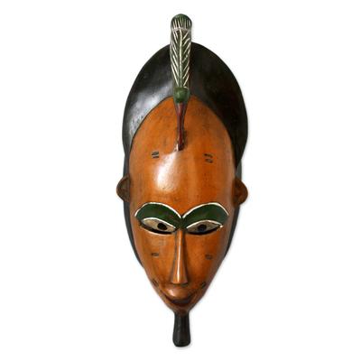 Ivorian wood mask, 'Bridal Beauty' - Ivorian wood mask