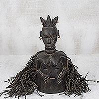 Liberia wood mask, 'Female Spiritual Healer' - Liberia wood mask