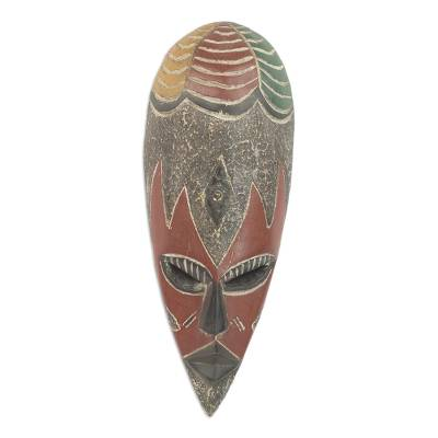 African mask, 'Bountiful Togolese Harvest' - Togolese Wood Mask