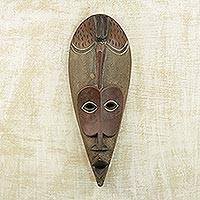 Ghanaian wood mask, 'Small Bird'