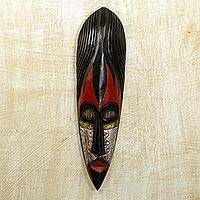 Nigerian wood mask, 'Fulani Maiden' - Nigerian Wood Mask