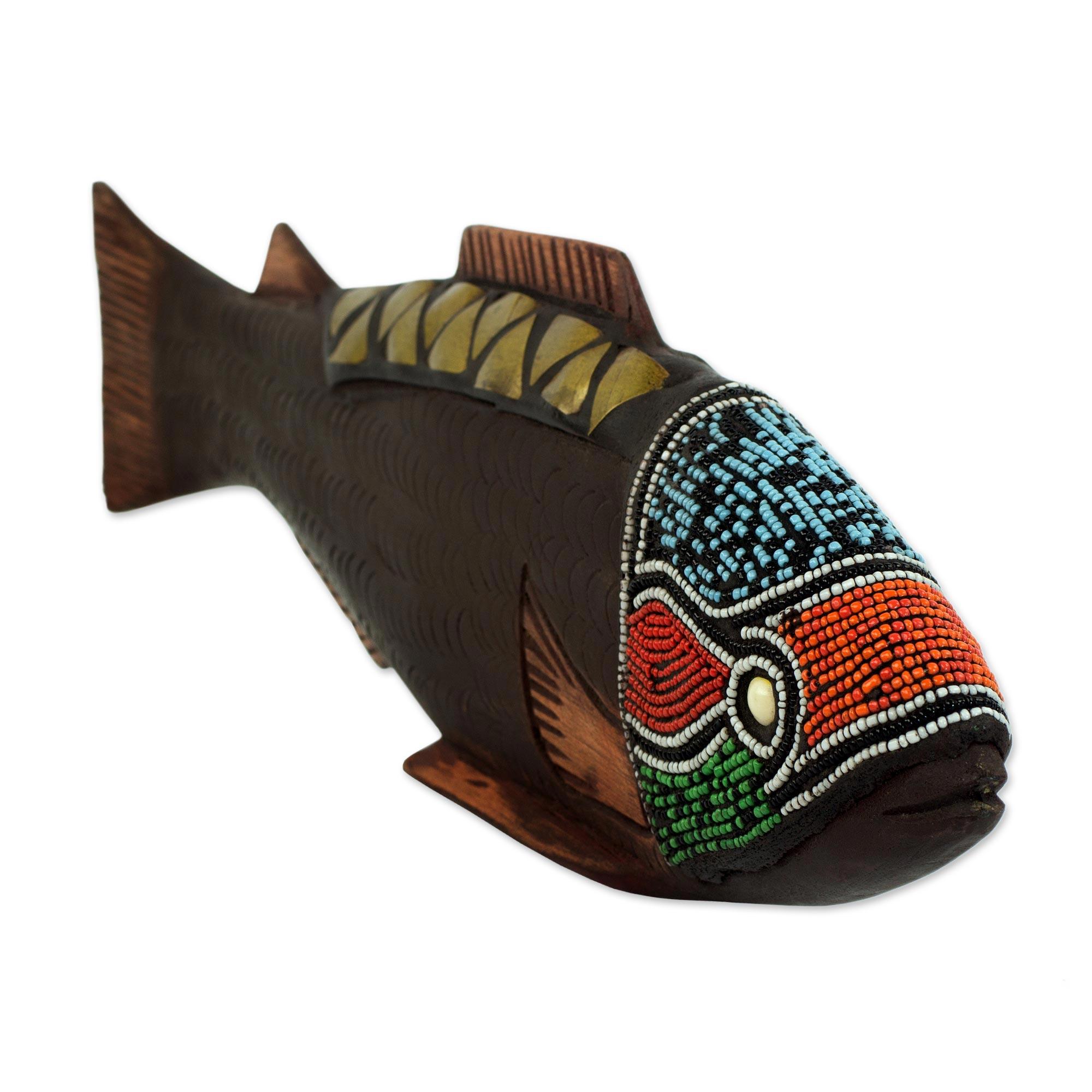 Fish Sculpture by Abdul Aziz Mohammadu