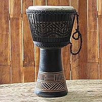 Wood djembe drum, 'Ultimate' - Wood djembe drum