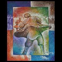 'Takai Dance Rhythm' - Acrylic Expressionist Painting