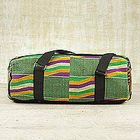 Cotton kente shoulder bag, 'Akan Glamour' - Cotton kente shoulder bag