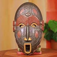 Ivoirian wood African mask, 'Dan Comic' - Fair Trade Ivory Coast Wood Mask