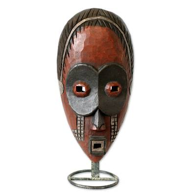 Ivoirian wood African mask, 'Dan Ghost' - Ivoirian wood African mask