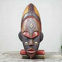 Ivoirian wood African mask, 'Dan Beauty'
