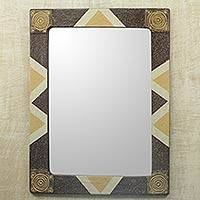 Mirror, 'African Safari' - Unique Handcrafted African Mirror