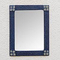 Mirror, 'African Wisdom' - Hand Made African Style Rectangular Wood Mirror