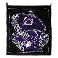 Batik wall hanging, 'Pride of a Woman' - Batik wall hanging