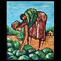 'Watermelon Mama' - African Expressionist Painting