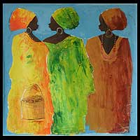 'Fashion Frenzy' (2008) - Original African Painting