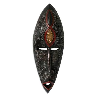 Ghanaian wood mask, 'A Man of Knowledge' - African Wood Mask