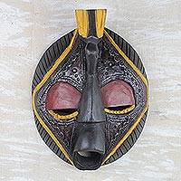 Africa wood mask, 'Patience'