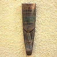 Ghanaian wood mask, 'Saving' - African wood mask