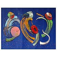 'Music Makers IV' - African Expressionist Painting