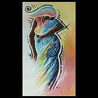 'Traditional Elegance' - Original African Painting