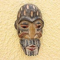 Ghanaian wood mask, 'Historian'