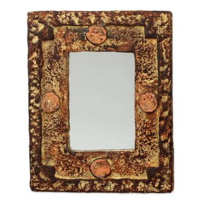 Mirror, 'Hand of the Lord' - Rustic Wood Mirror