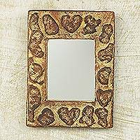 Mirror, 'The Lord's Hand' - Sese Wood Wall Mirror