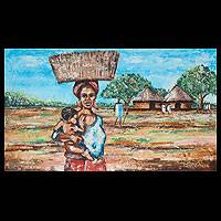 'Woman from the Farm' - Original African Painting