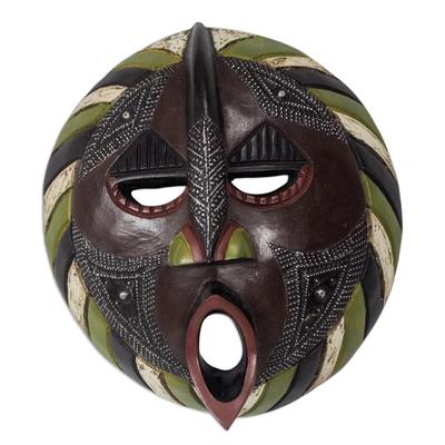 Ewe wood mask, 'Harvest Increase' - African Hand Carved Wood Mask