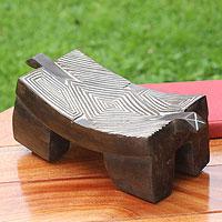 Wood sculpture, 'Senufu Goodnight Dreams' - Wood sculpture