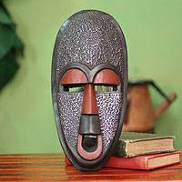Ghanaian wood mask, 'Detector of Evil'