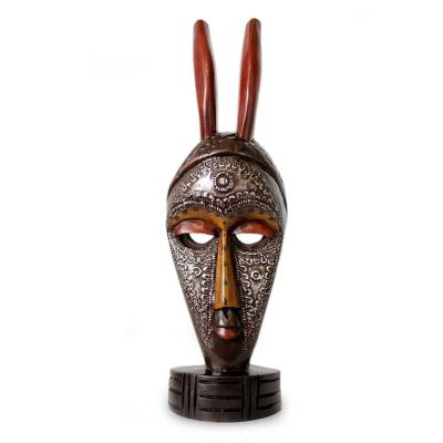 African wood mask, 'Boli Protection' - African wood mask