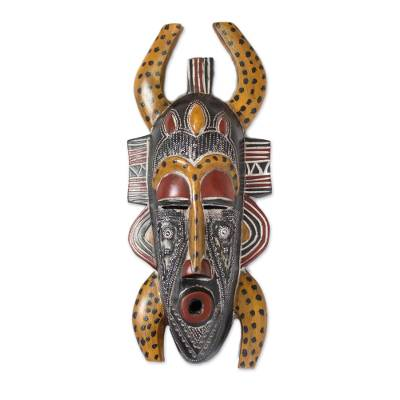 African wood mask, 'Senufo Legacy' - Handcrafted Wood Mask