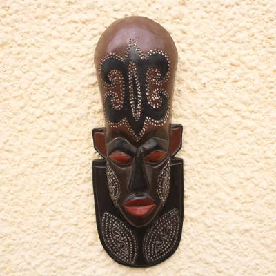 Nigerian wood mask, A Great King